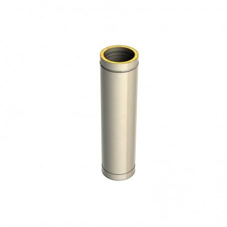 élément droit de 1000 mm - conduit de fumée double paroi isolé