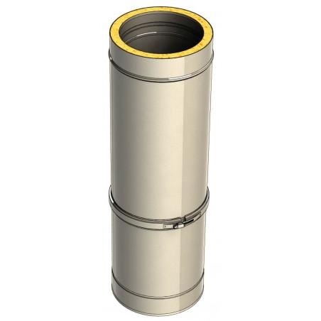 élément droit réglable 560 mm - conduit de fumée double paroi isolé