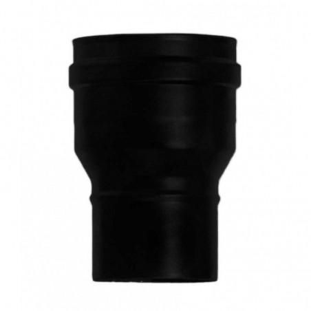 augmention concentrique noire - conduit de fumée simple paroi pour poêle à pellets