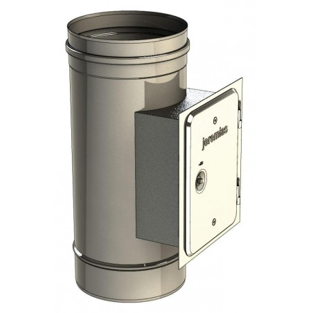 élément trappe de visite rectangulaire - conduit de fumée simple paroi