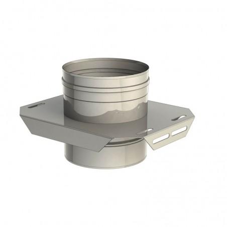 plaque de support réglable - conduit de fumée simple paroi