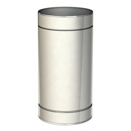 élément droit 500 mm - conduit de ventilation haute simple paroi