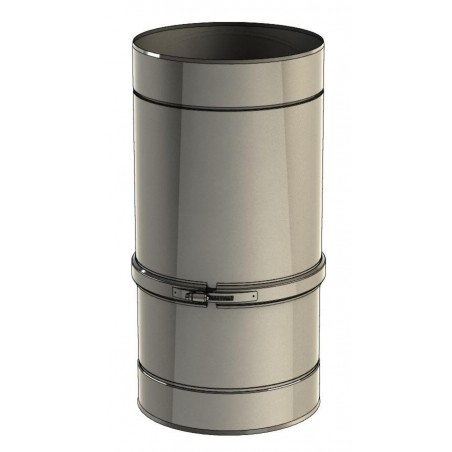 élément droit réglable 400-560 mm - conduit de ventilation haute simple paroi