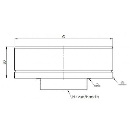 plan tampon bas de conduit - conduit de ventilation haute simple paroi