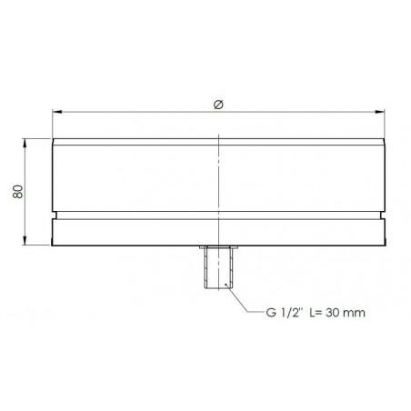 plan tampon de purge - conduit de ventilation haute simple paroi