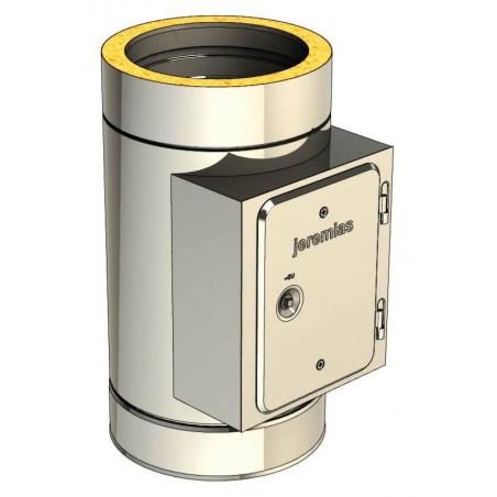 élément avec trappe de visite rectangulaire - conduit de fumée double paroi isolé