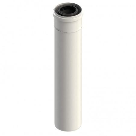 élément droit 500 mm - conduit concentrique pour chaudière