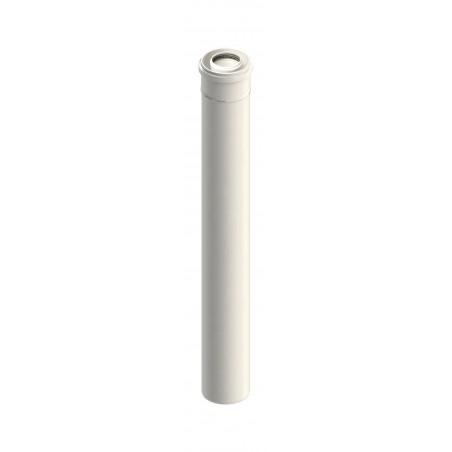 élément droit 1000 mm - conduit de raccordement concentrique pour chaudière