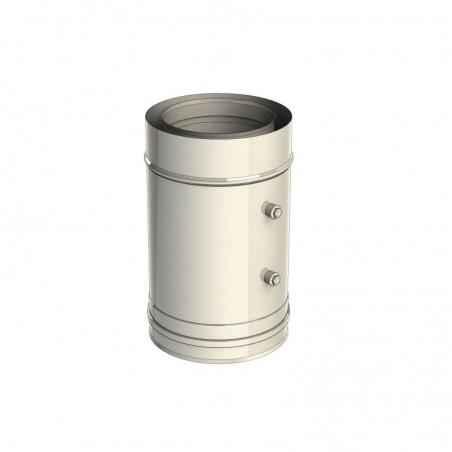 élément droit 330 mm - conduit de fumée concentrique pour foyer et poêle gaz
