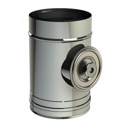 élément d'inspection 200 Pa - conduit de fumée concentrique pour foyer et poêle gaz
