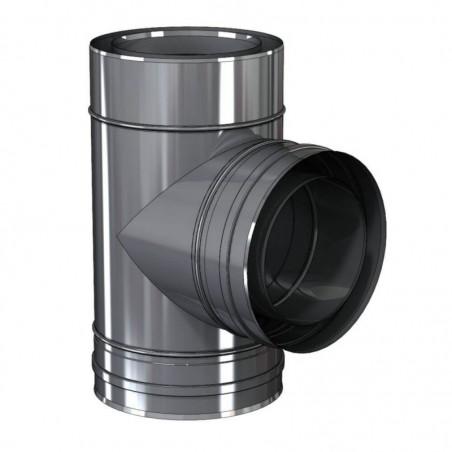 té 90 piquage concentrique - conduit de fumée concentrique pour foyer et poêle gaz