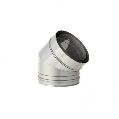 coude 45 inox - conduit - conduit de fumée concentrique pour poêle à pellet