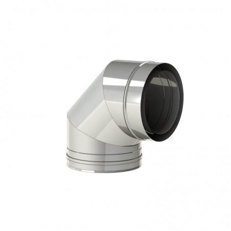 coude 90 inox - conduit - conduit de fumée concentrique pour poêle à pellet
