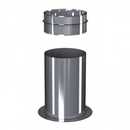 support au sol recoupable pour té compact - conduit de fumée