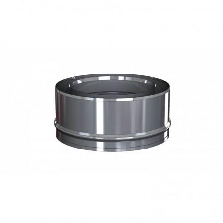 tampon plein inox - conduit - conduit de fumée concentrique pour poêle à pellet