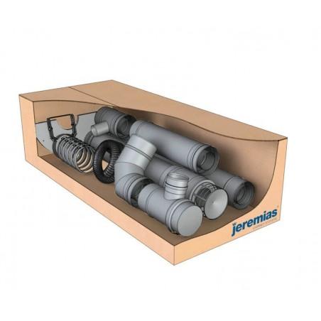 kit Twin Biomass inox box - conduit de fumée concentrique pour poêle à pellet