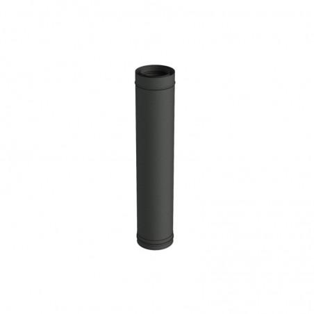 élément droit 1000 mm noir - conduit de fumée concentrique noir poêle à pellets