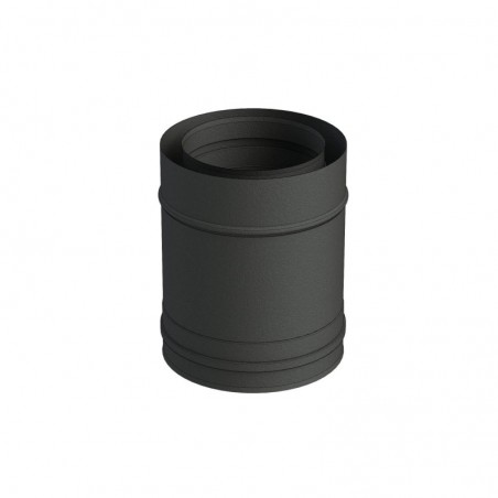 élément droit 250 mm noir - conduit de fumée concentrique noir poêle à pellets