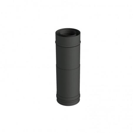 élément droit réglable 320-480 mm noir - conduit de fumée concentrique noir poêle à pellets