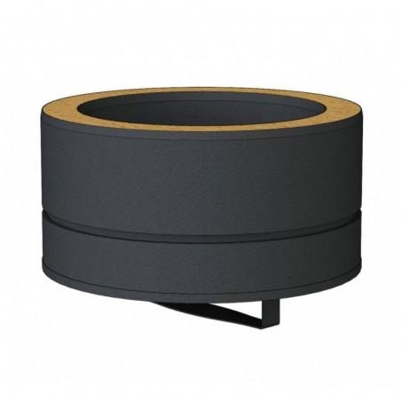 tampon de bas de conduit noir - conduit de fumée double paroi isolé noir