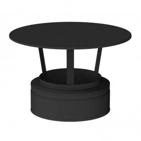 chapeau standard noir - conduit - conduit de fumée double paroi isolé noir
