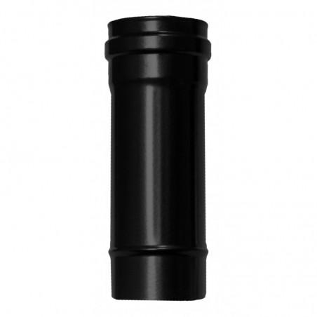 élément droit 250 mm - conduit simple paroi en acier noir mat pour poêle à pellets