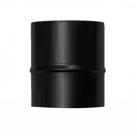 raccord mâle mâle - conduit simple paroi en acier noir mat pour poêle à pellets