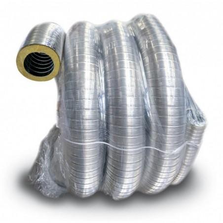 bobine flexible isole inox - conduit de fumée flexible double peau isolé