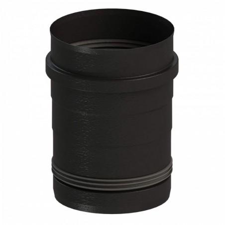 raccord poêle 80 vers 100 - conduit simple paroi design noir pour poêle à pellets