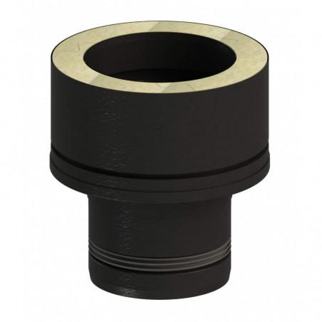 raccord EWPV vers DW-ECO - conduit simple paroi design noir pour poêle à pellets